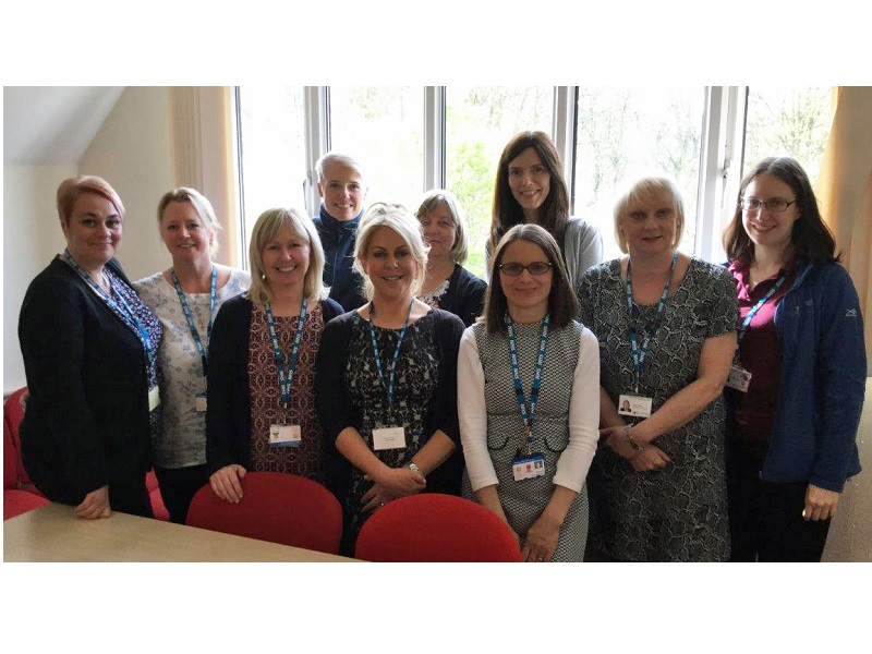 Debbie Nash and members of the Community Palliative Care Team