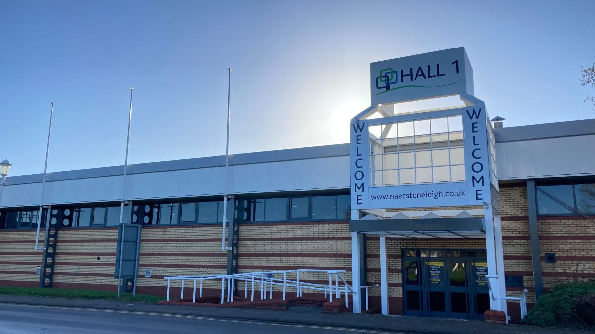 Hall 1 Stoneleigh vaccination centre