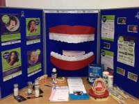 Oral Health promotion stand for mouth cancer action month